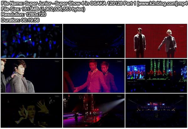 [Concert] Super Junior   Super Show 4 in Osaka Japan (on Fuji TV 120128)