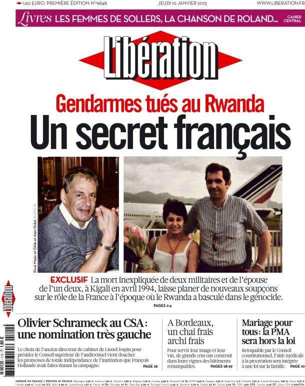 Libération Jeudi 10 janvier 2013