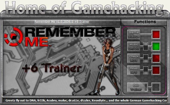 Remember Me v1.02 Steam +6 Trainer [HoG]