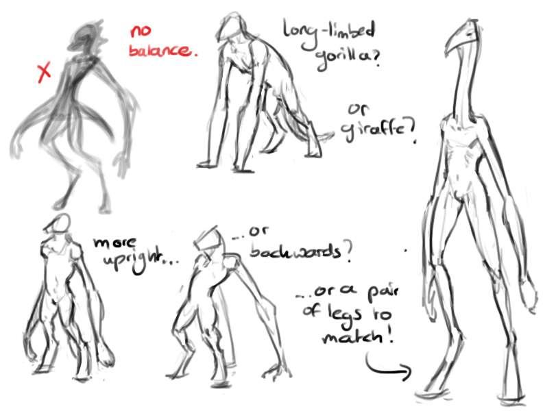 Character Design Help : Alien character design help