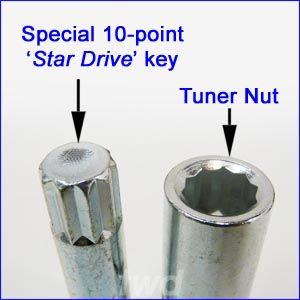 Tuner nut and key