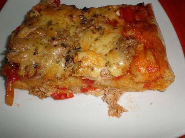 wvfa - Pizza de atún y verdura salteada