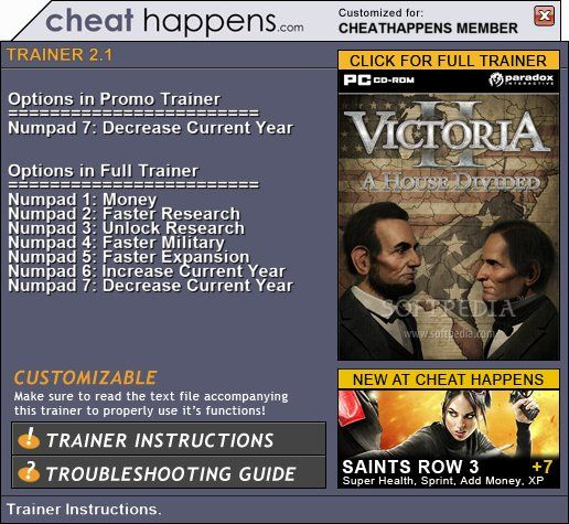 victoria2ahousedivided1 Victoria II: A House Divided 2.1 +1 Trainer