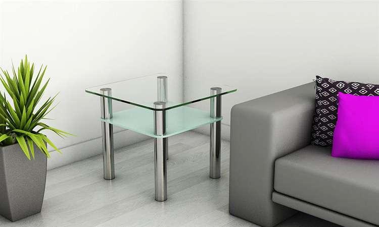beistelltisch tisch couchtisch chrom kaffetisch klein mini. Black Bedroom Furniture Sets. Home Design Ideas