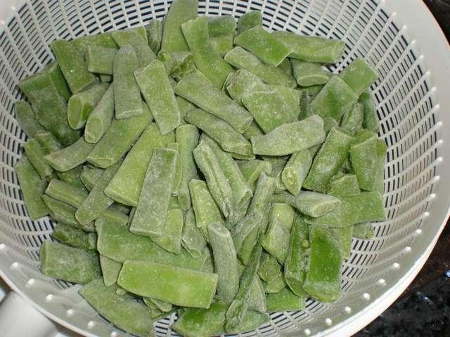 Judía verde plana congelada