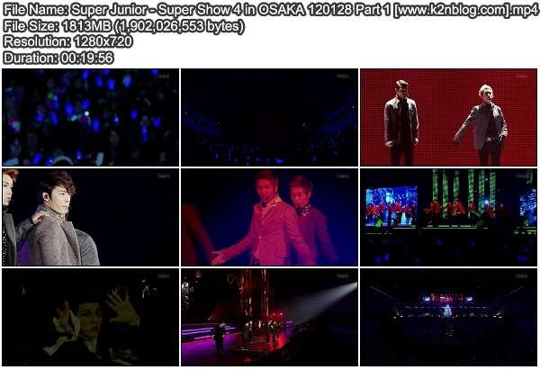 Super Junior - Super Show 4 in Osaka Japan